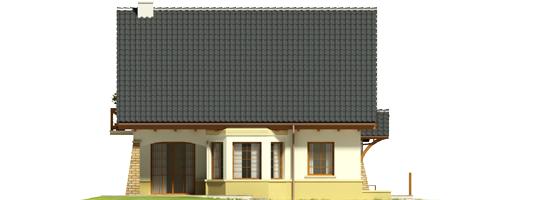 Hian G1 - Projekt domu Hiacynt G1 - elewacja lewa