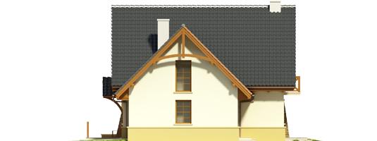 Hian G1 - Projekt domu Hiacynt G1 - elewacja prawa