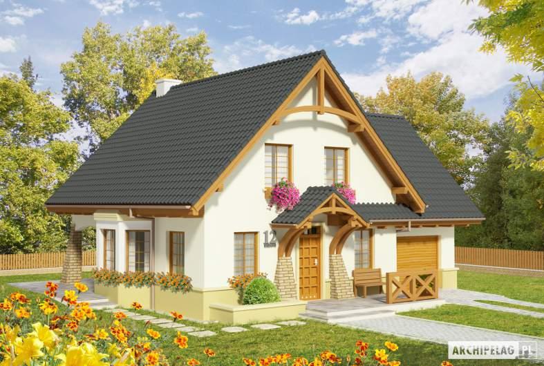 Projekt domu Hiacynt G1 - wizualizacja frontowa