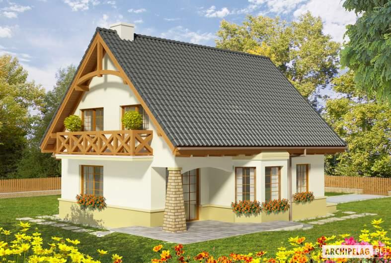Projekt domu Hiacynt G1 - wizualizacja ogrodowa