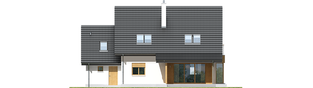 Projekt domu Marisa III G1 ENERGO - elewacja tylna