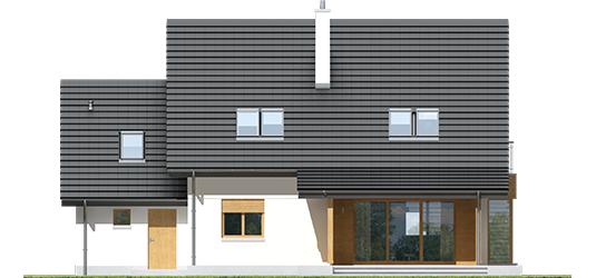 Marise III G1 ENERGO - Projekty domów ARCHIPELAG - Marisa III G1 ENERGO - elewacja tylna