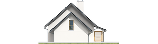 Projekt domu Marisa III G1 ENERGO - elewacja prawa