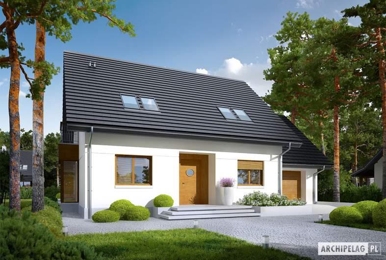 Projekt domu Marisa III G1 ENERGO - wizualizacja frontowa