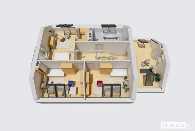 Projekt domu Marisa III G1 ENERGO - rzut poddasza 3D