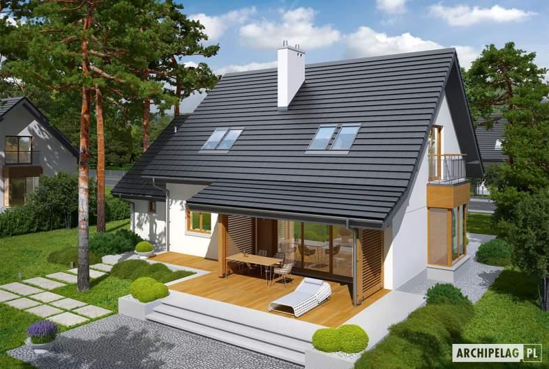 Projekt domu Marisa III G1 ENERGO - Projekty domów ARCHIPELAG - Marisa III G1 ENERGO - widok z góry