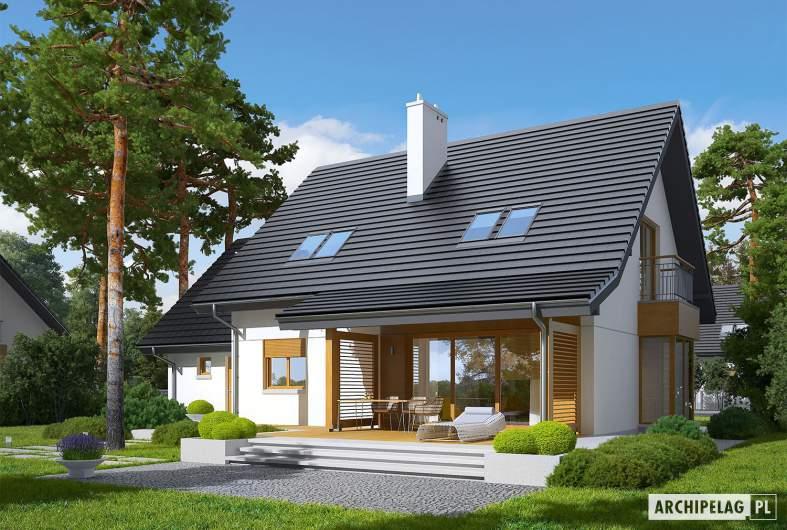 Projekt domu Marisa III G1 ENERGO - wizualizacja ogrodowa