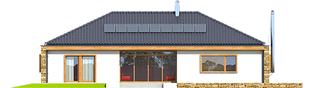 Projekt domu EX 8 G2 (wersja D) ENERGO PLUS - elewacja tylna