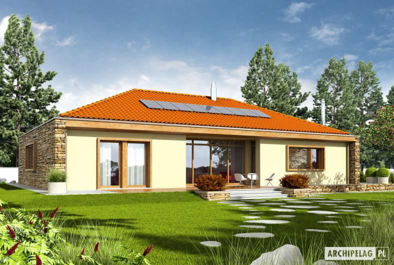 Projekt domu EX 8 G2 (wersja D) - wizualizacja ogrodowa