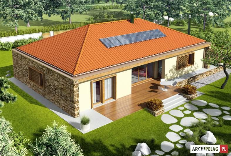 Projekt domu EX 8 G2 (wersja D) - widok z góry
