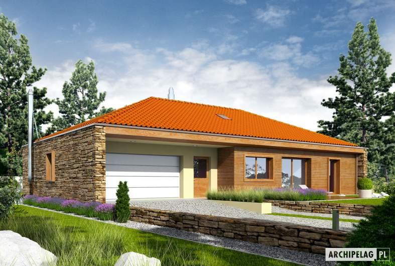 Projekt domu EX 8 G2 (wersja D) - wizualizacja frontowa