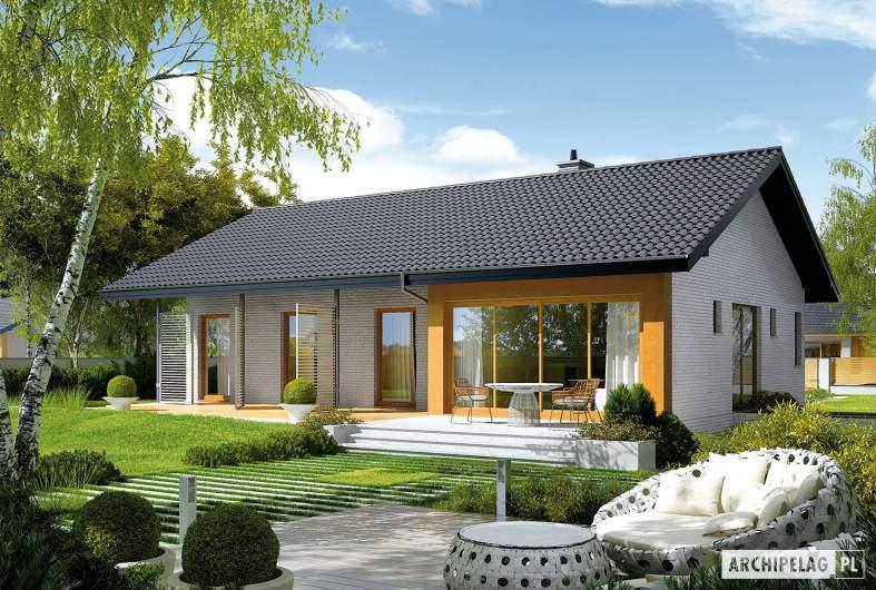 Projekt domu Eryk III - wizualizacja ogrodowa