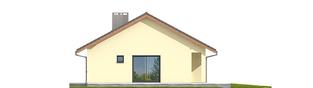 Projekt domu Rafael VI ECONOMIC  - elewacja tylna