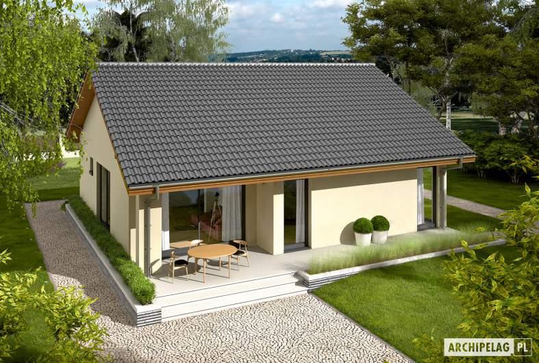 Projekt domu Rafael VI ECONOMIC - widok z góry