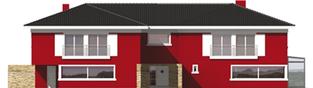 Projekt domu Kaj G2 - elewacja frontowa