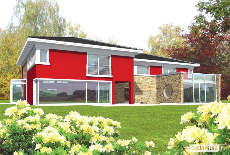 Projekt domu Kaj G2 - wizualizacja ogrodowa