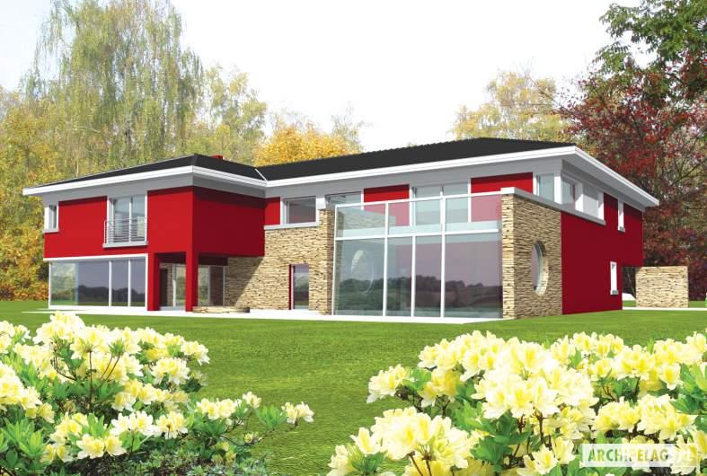 Projekt domu Kaj G2 - wizualizacja frontowa
