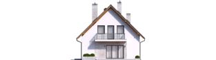 Projekt domu Daga II - elewacja tylna