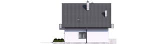 Projekt domu Daga II - elewacja lewa