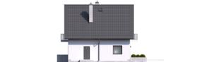 Projekt domu Daga II - elewacja prawa
