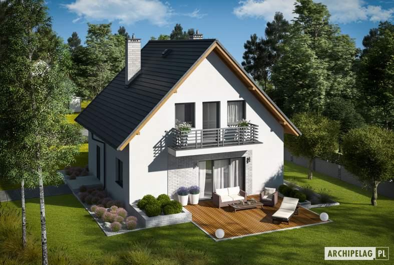 Projekt domu Daga II - widok z góry
