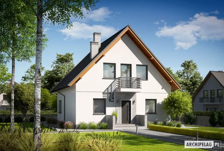 Projekt domu Daga II - wizualizacja frontowa