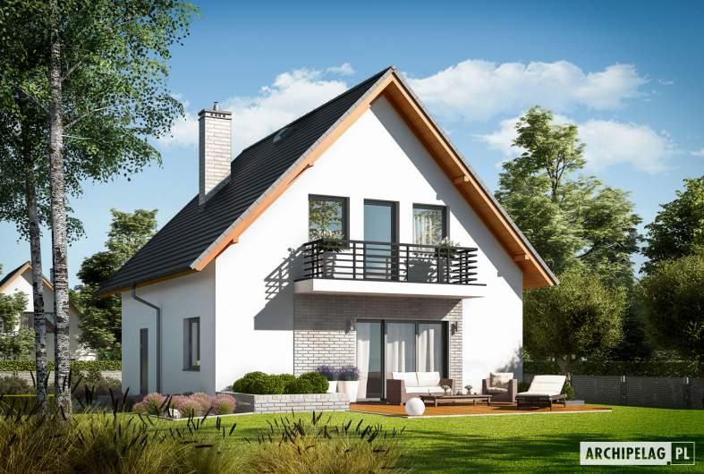 Projekt domu Daga II - wizualizacja ogrodowa