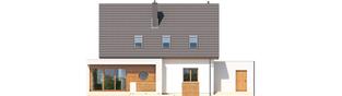 Projekt domu Ernest G1 - elewacja tylna