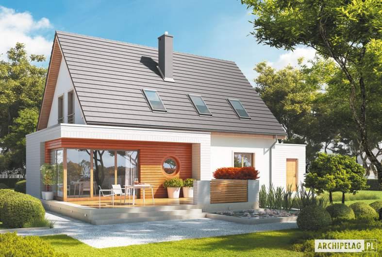 Projekt domu Ernest G1 - wizualizacja ogrodowa