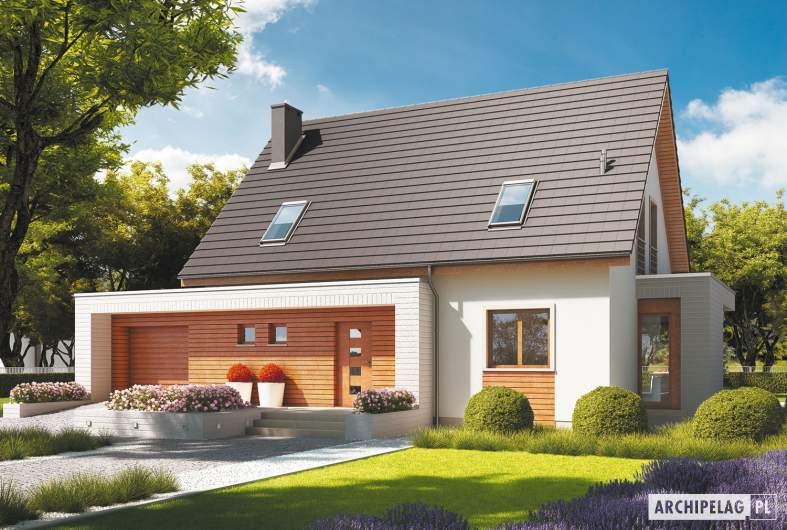 Projekt domu Ernest G1 - wizualizacja frontowa