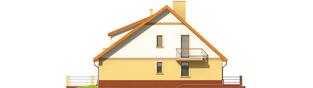 Projekt domu Malwa G1 (dwulokalowa) - elewacja lewa