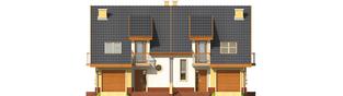 Projekt domu Malwa G1 (dwulokalowa) - elewacja frontowa