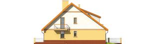 Projekt domu Malwa G1 (dwulokalowa) - elewacja prawa
