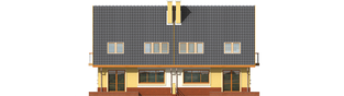 Projekt domu Malwa G1 (dwulokalowa) - elewacja tylna