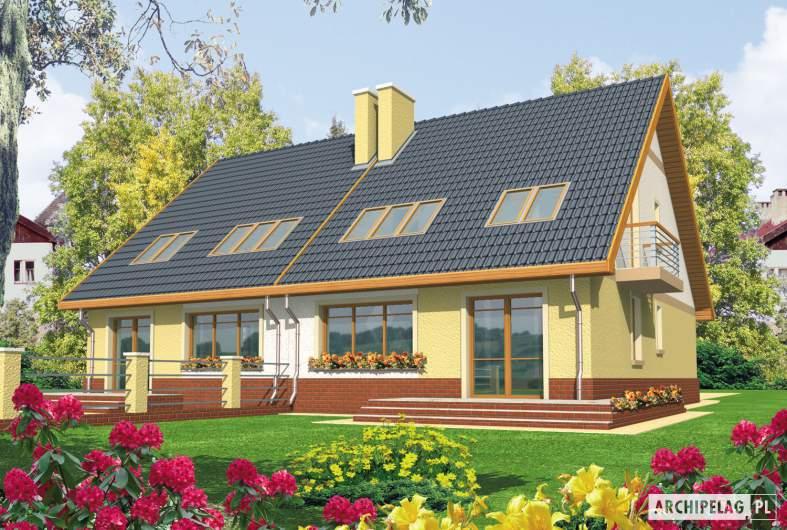 Projekt domu Malwa G1 - wizualizacja ogrodowa