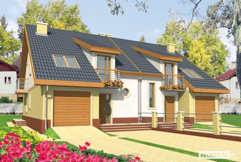 Projekt domu Malwa G1 - wizualizacja frontowa