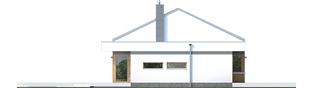Projekt domu EX 11 G2 (wersja C) soft - elewacja lewa