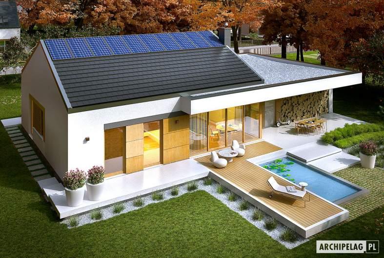 Projekt domu EX 11 G2 (wersja C) soft - widok z góry