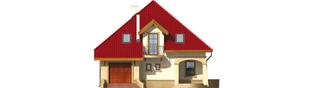 Projekt domu Lukrecja G1 - elewacja frontowa