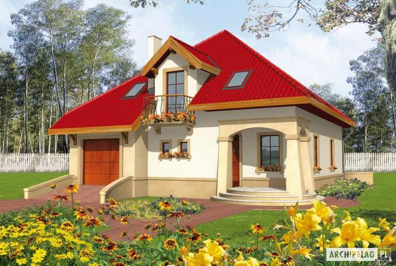 Projekt domu Lukrecja G1 - wizualizacja frontowa