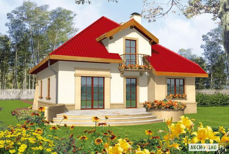 Projekt domu Lukrecja G1 - wizualizacja ogrodowa