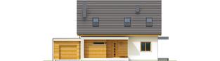 Projekt domu Nikodem II G1 - elewacja frontowa
