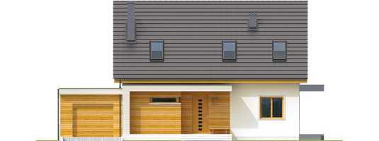 Nikodem II G1 - Projekt domu Nikodem II G1 - elewacja frontowa