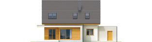 Projekt domu Nikodem II G1 - elewacja tylna