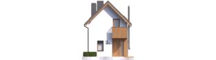 Projekt domu Moniczka II (wersja B) - elewacja frontowa