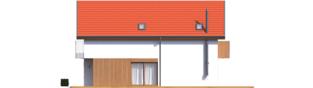 Projekt domu Moniczka II (wersja B) - elewacja prawa