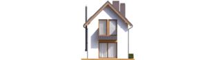 Projekt domu Moniczka II (wersja B) - elewacja tylna