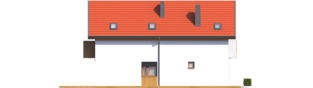 Projekt domu Moniczka II (wersja B) - elewacja lewa