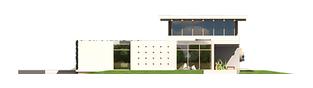Projekt domu River G2 - elewacja tylna