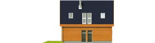 Projekt domu Fabrycja G1 - elewacja lewa